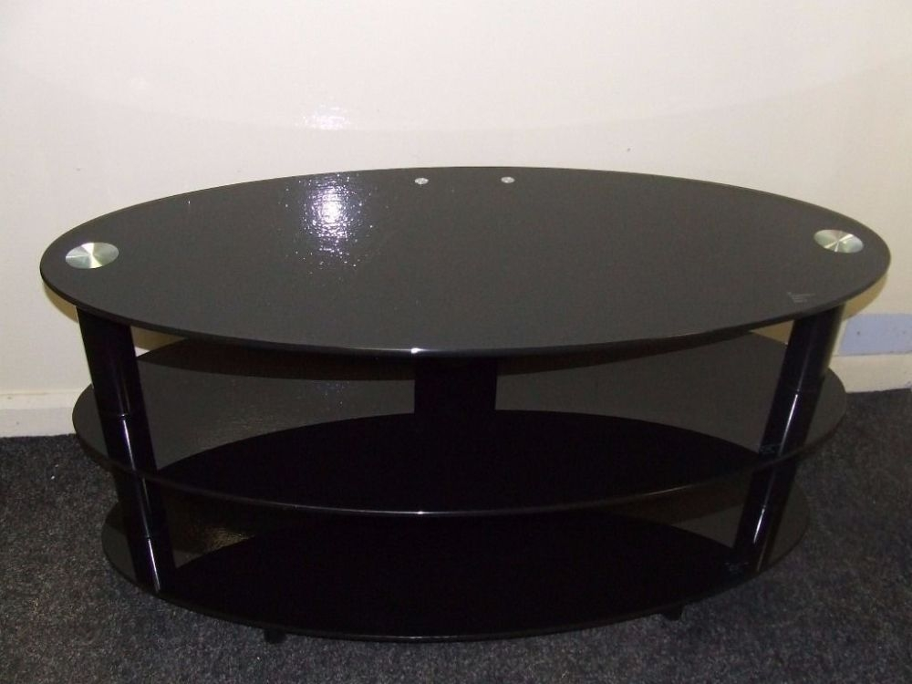 Great Wellliked Black Oval TV Stands Regarding Black Glass Oval Tv Stand Home Design Ideas (Image 25 of 50)