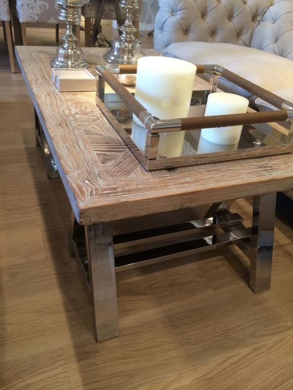 Great Wellliked Chrome And Wood Coffee Tables Within Chrome Coffee Table (View 16 of 50)