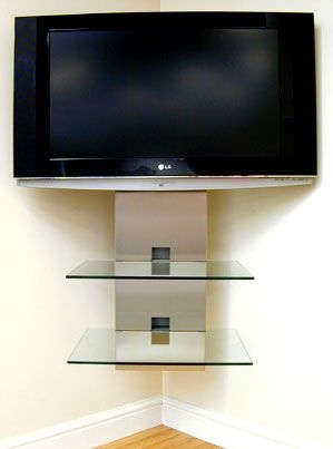 Great Wellliked Corner TV Stands With Bracket Throughout Best 25 Corner Tv Wall Mount Ideas On Pinterest Corner Tv (View 3 of 50)