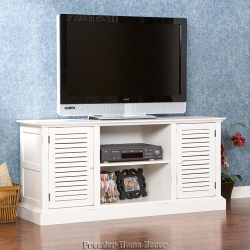 Great Wellliked French Country TV Stands Within French Country Style Antiqued White Media Tv Stand Storage Cabinet (View 49 of 50)