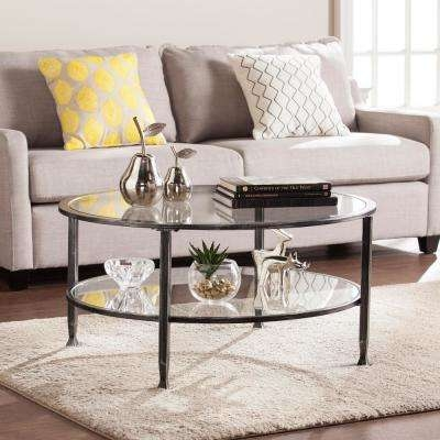 Great Wellliked Glass And Black Metal Coffee Table With Regard To Transitional Coffee Table Accent Tables Living Room (Image 18 of 50)