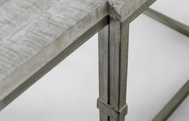 Great Wellliked Grey Wood Coffee Tables Pertaining To Table Grey Wood Rectangular Brushed Silver Alden (Image 27 of 50)