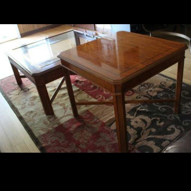 Great Wellliked Heritage Coffee Tables With Regard To Drexel Heritage Coffee Table Set Furniture Home On Carousell (Image 26 of 50)