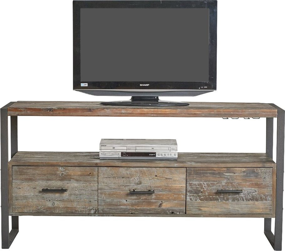Great Wellliked Industrial Corner TV Stands Throughout Industrial Tv Stands Youll Love Wayfair (Image 27 of 50)