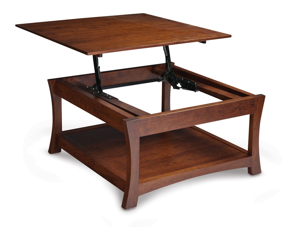 Great Wellliked Lift Top Oak Coffee Tables Intended For Coffee Table Amish Lift Top Coffee Table Solid Oak Coffee Table (Image 19 of 40)