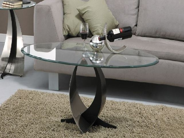 Great Wellliked Oval Shaped Glass Coffee Tables Intended For Glass Coffee Tables Accent Tables Unique Modern Glass Coffee (Image 27 of 50)