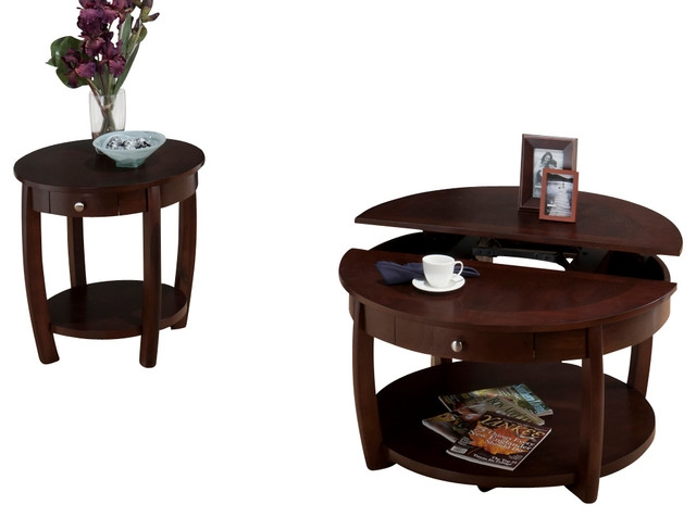 Great Wellliked Round Coffee Tables With Drawer In Coffee Table Jofran 436 2 Riverside 3 Piece Round Coffee Table (Image 20 of 50)