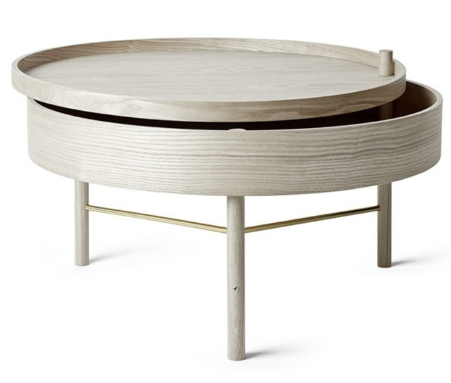 Great Wellliked Round Swivel Coffee Tables Throughout 21 Coffee Tables With Hidden Storage Space Vurni (View 15 of 50)