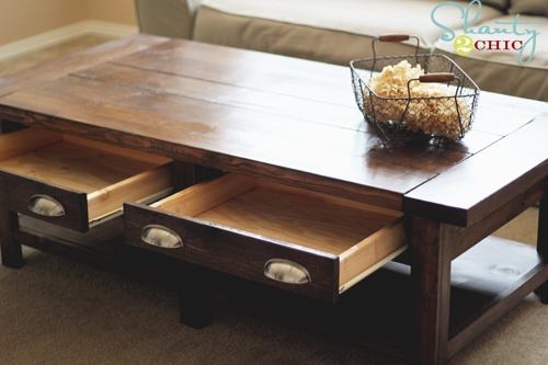 Great Wellliked Rustic Coffee Table Drawers With Ana White Benchright Coffee Table Diy Projects (Image 23 of 50)