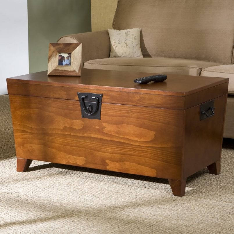 Great Wellliked Storage Trunk Coffee Tables Regarding Storage Chest Coffee Table Wood Trunk Coffee Table Rustic Chest (Image 24 of 50)