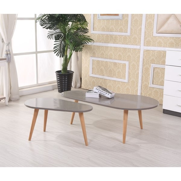 Great Widely Used 2 Piece Coffee Table Sets Inside Container Sara 2 Piece Coffee Table Set Reviews Wayfair (View 3 of 50)