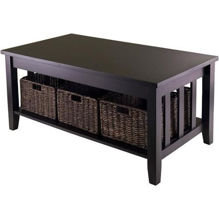 Great Widely Used Coffee Table With Wicker Basket Storage Intended For Best 25 Wicker Coffee Table Ideas On Pinterest Couch Ottoman (Image 23 of 40)