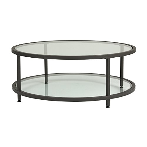 Great Widely Used Coffee Tables Glass And Metal Regarding Amazon Studio Designs Home 710030 Camber Round Coffee Table (Image 26 of 50)