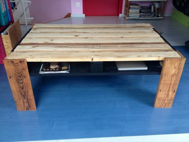 Great Widely Used Coffee Tables With Magazine Storage With Pallet Coffee Table With Magazine Rack 99 Pallets (Image 23 of 50)