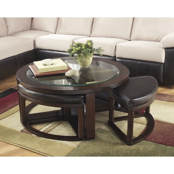 Great Widely Used Coffee Tables With Nesting Stools With Dar Home Co Eastin 5 Piece Coffee Table And Stool Set Reviews (View 20 of 50)