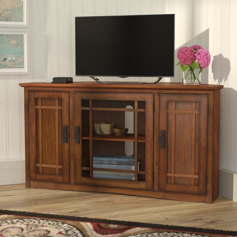 Great Widely Used Corner Oak TV Stands For Flat Screen For Shop 148 Corner Tv Stands (Image 28 of 50)