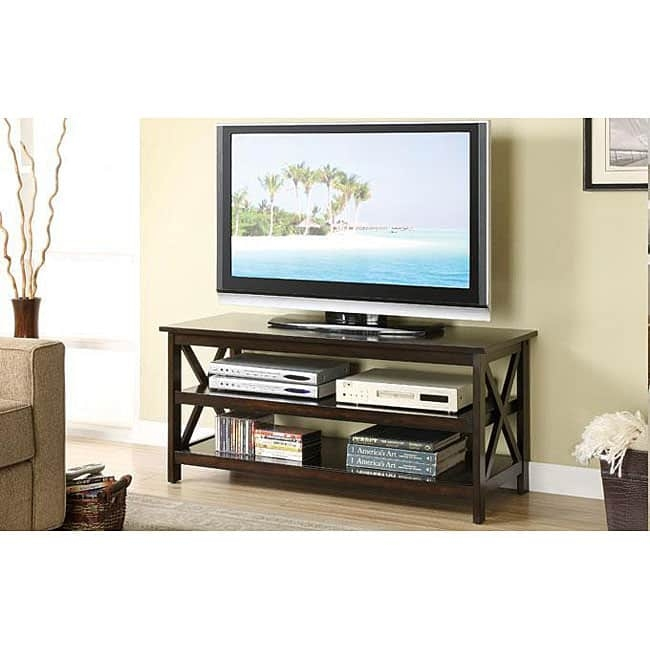 Great Widely Used Dark Walnut TV Stands In Oak Dark Walnut Finish Tv Stand And Media Console Free Shipping (Image 27 of 50)