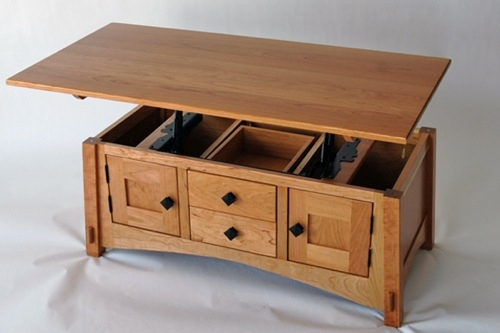 Great Widely Used Elevating Coffee Tables Regarding Hydraulic Coffee Table Idi Design (Image 26 of 50)