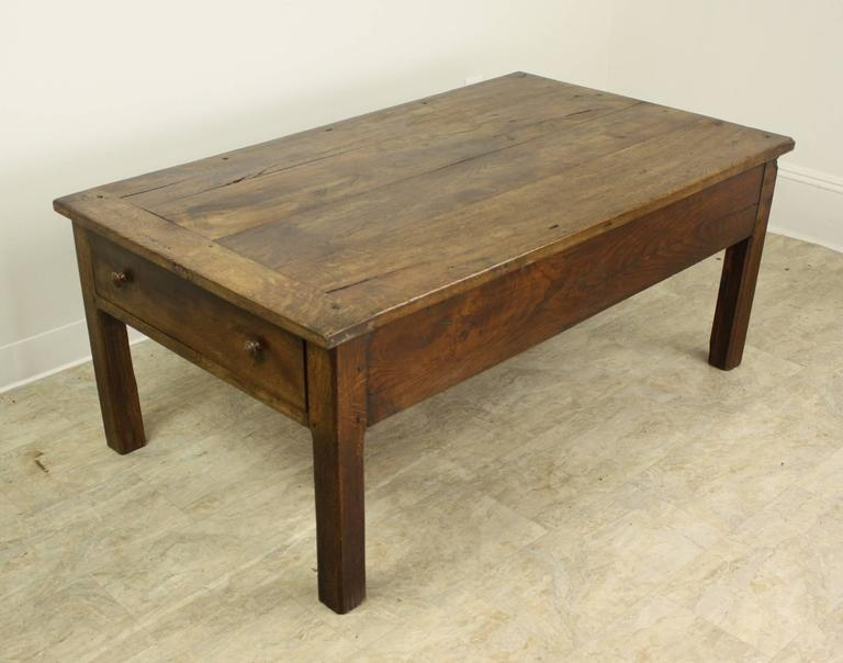 Great Widely Used French Country Coffee Tables Intended For Antique French Oak Country Coffee Table Two Drawers At 1stdibs (Image 26 of 50)
