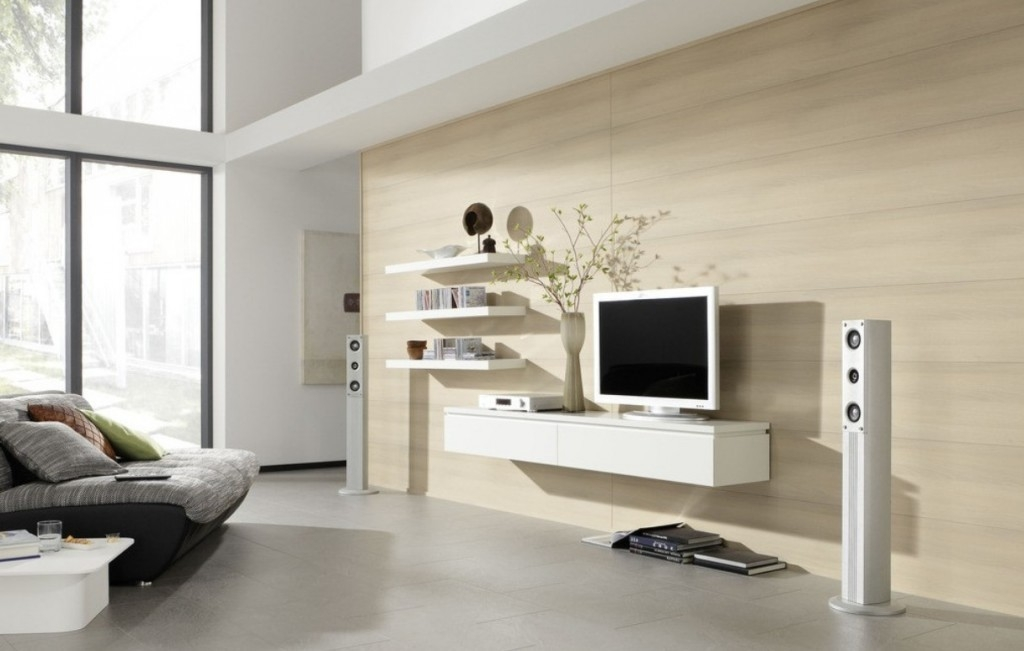 Great Widely Used Full Wall TV Cabinets With Living Room Beautiful White Black Glass Wood Modern Design (Image 26 of 50)