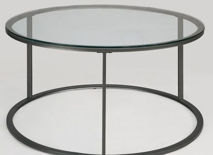 Great Widely Used Glass And Black Metal Coffee Table Throughout Round Metal Glass Coffee Table Jerichomafjarproject (Image 19 of 50)