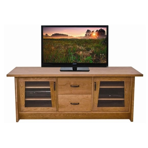 Great Widely Used Glass TV Cabinets With Doors Intended For Furniture Brown Wooden Media Console With Rack And Glass Door (Image 25 of 50)