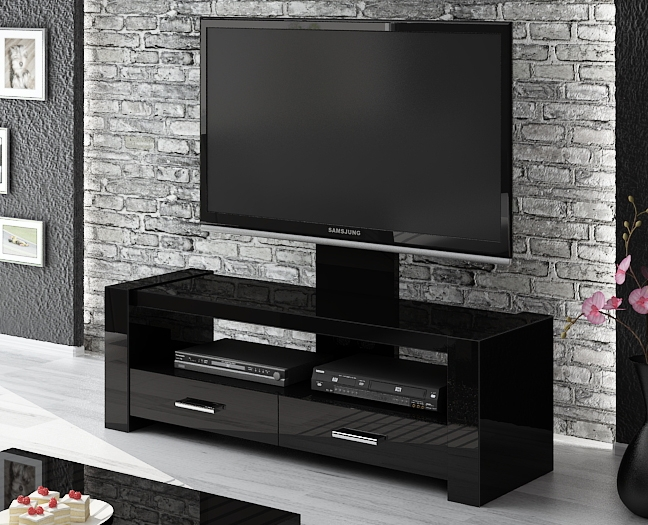Great Widely Used Modern Black TV Stands In Bedroom Brilliant Best 25 Black Tv Stand Ideas On Pinterest Living (View 20 of 50)