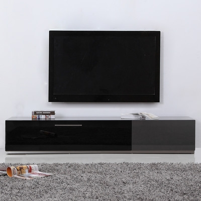 Great Widely Used Modern Black TV Stands With Regard To B Modern Producer 80 Tv Stand Reviews Wayfair (View 28 of 50)