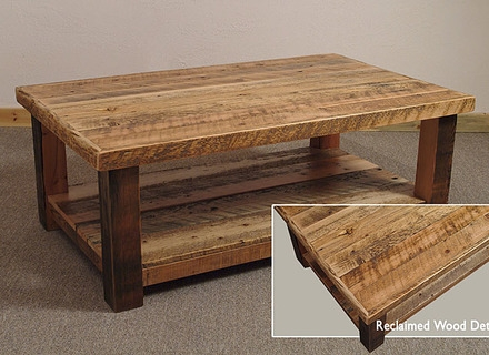 Great Widely Used Rustic Wood DIY Coffee Tables Intended For Rustic Wyoming Coffee Table Further 3 On Rustic Cabin Living Room (Image 24 of 50)