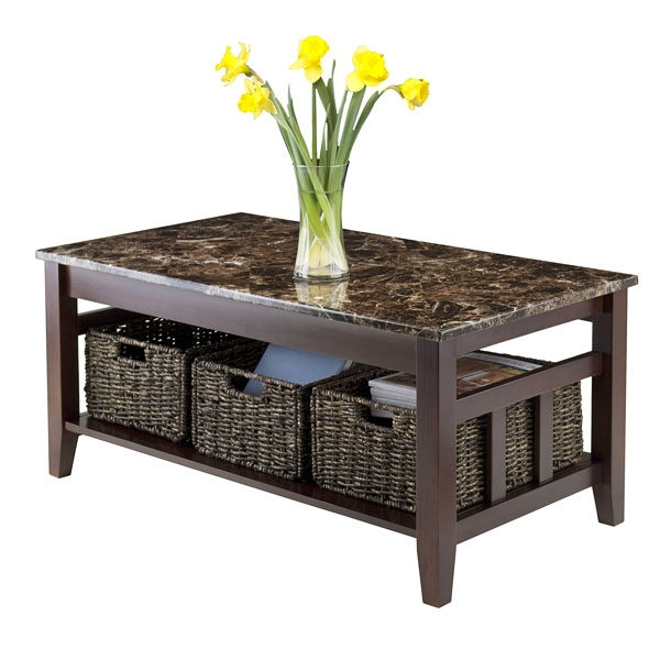 Great Widely Used Solid Oak Coffee Table With Storage Regarding 22 Well Designed Coffee Tables With Basket For Storage Home (Image 24 of 50)