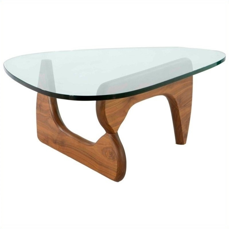 Great Widely Used Tokyo Coffee Tables With Aeon Furniture Tokyo Coffee Table In Light Walnut And Clear (Image 32 of 50)