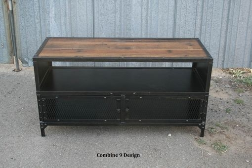 Great Widely Used Vintage Industrial TV Stands Regarding Buy A Hand Made Vintage Industrial Tv Stand Steel Reclaimed (Image 24 of 50)
