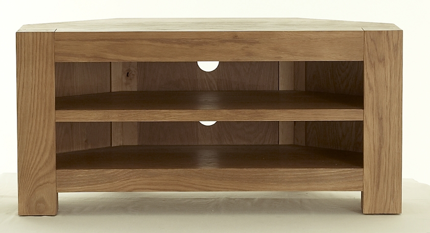 Great Widely Used Wood Corner TV Cabinets Throughout Oak Corner Tv Cabinets Uk Crepeloversca (View 10 of 50)