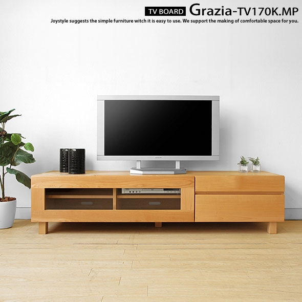 Great Widely Used Wooden TV Cabinets With Glass Doors Inside Joystyle Interior Rakuten Global Market Width 170 Cm Maple (Image 32 of 50)