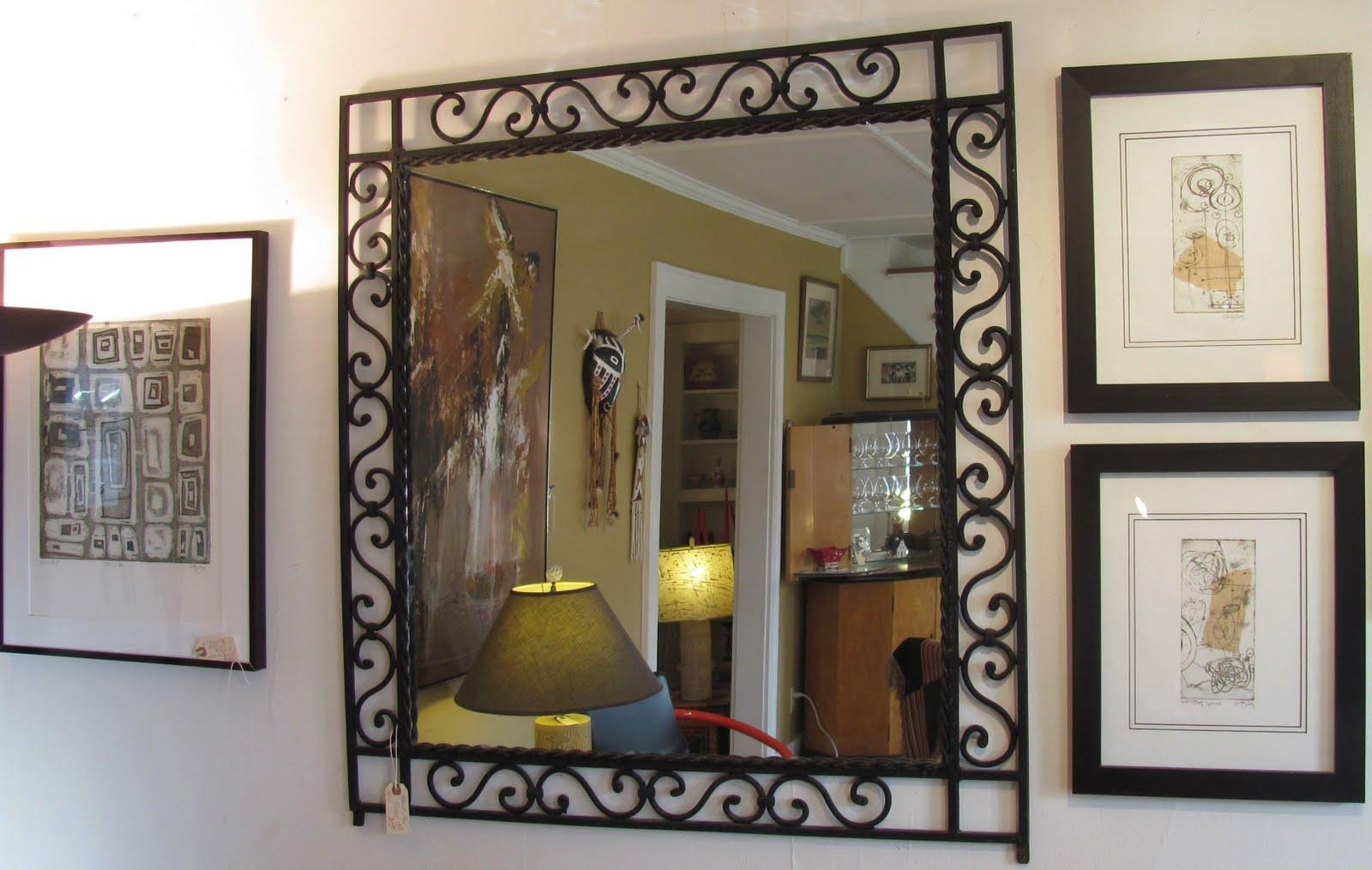 Great Wrought Iron Mirror | Red Hook Antique Center Throughout Rod Iron Mirrors (Photo 8 of 20)