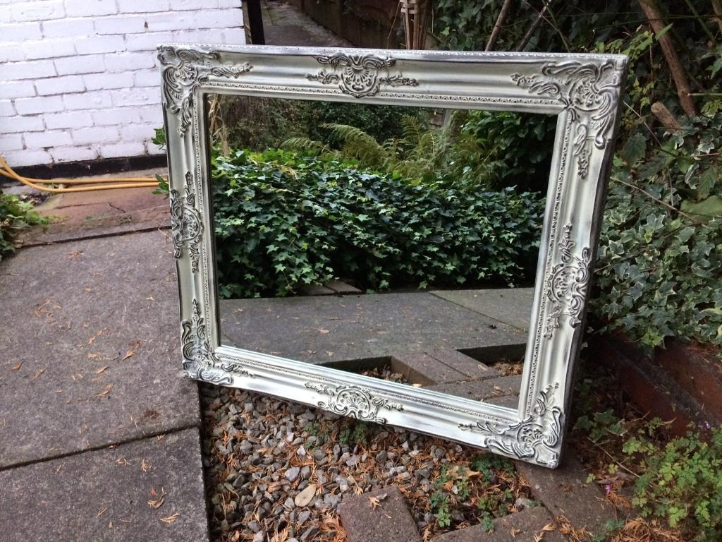 Green Distressed Mirror Vintage Ornate Mirror | In Worsley Inside Vintage Ornate Mirror (Image 7 of 20)