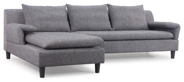 Grey Contemporary Sofa Throughout Gray Sofas (Image 17 of 20)