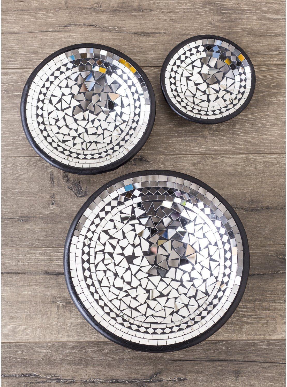 Gringo Mirror Mosaic Round Bowl Set – Gringo Pertaining To Round Mosaic Mirrors (Image 7 of 20)