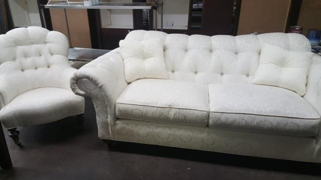 Grossman Online Store | Ethan Allen White Sofa & Chair – $600 Throughout Allen White Sofas (Image 15 of 20)