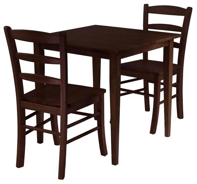 Groveland 3 Pc Wood Dining Table Set (Antique – Transitional Inside Dining Tables And 2 Chairs (Image 8 of 20)