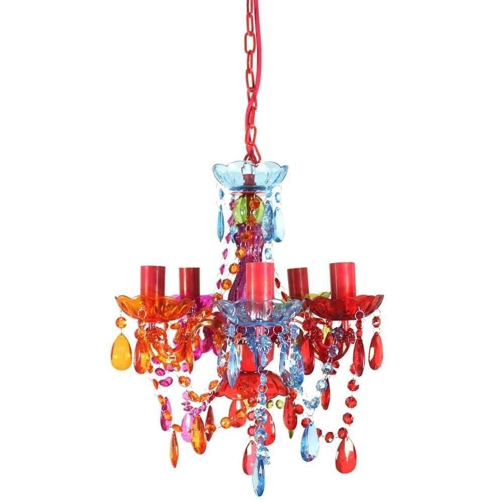 Gypsy Chandelier Pendant Ceiling Light Multi Coloured Small Intended For Small Gypsy Chandeliers (Image 14 of 25)