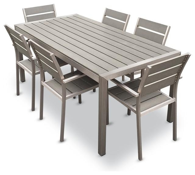 Habana 7 Piece Outdoor Dining Set – Contemporary – Outdoor Dining In Outdoor Dining Table And Chairs Sets (Image 8 of 20)