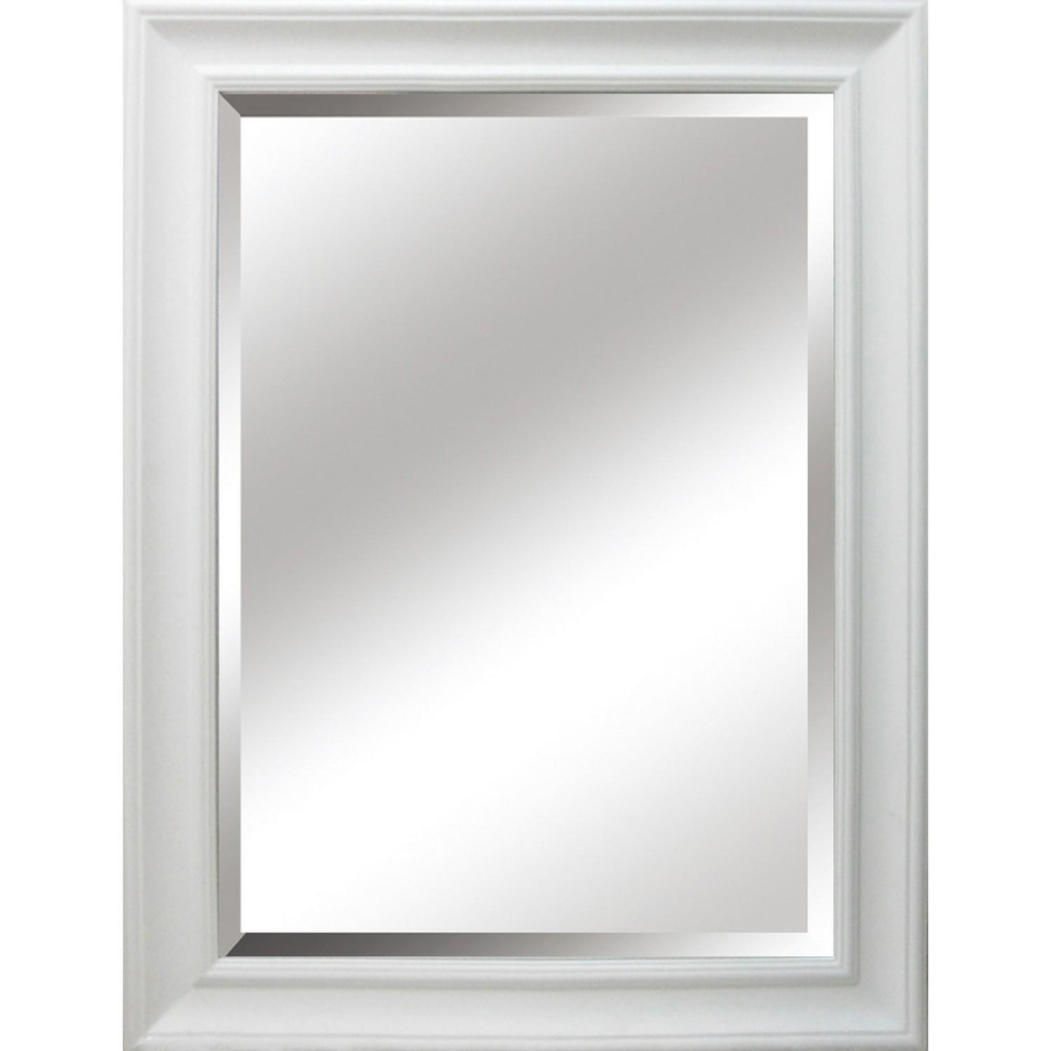 Hampshire Bevelled Mirror White With Bevelled Mirror (View 14 of 20)