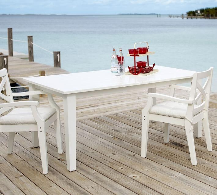 Hampstead Painted Rectangular Extending Dining Table – White Pertaining To Extending Outdoor Dining Tables (Image 17 of 20)