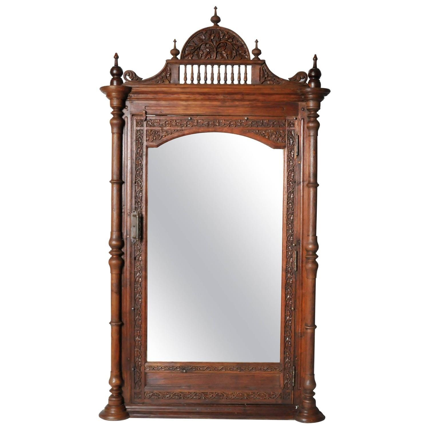 Hand Carved Victorian Full Length Patina Mirror At 1Stdibs Within Victorian Full Length Mirror (Image 16 of 20)