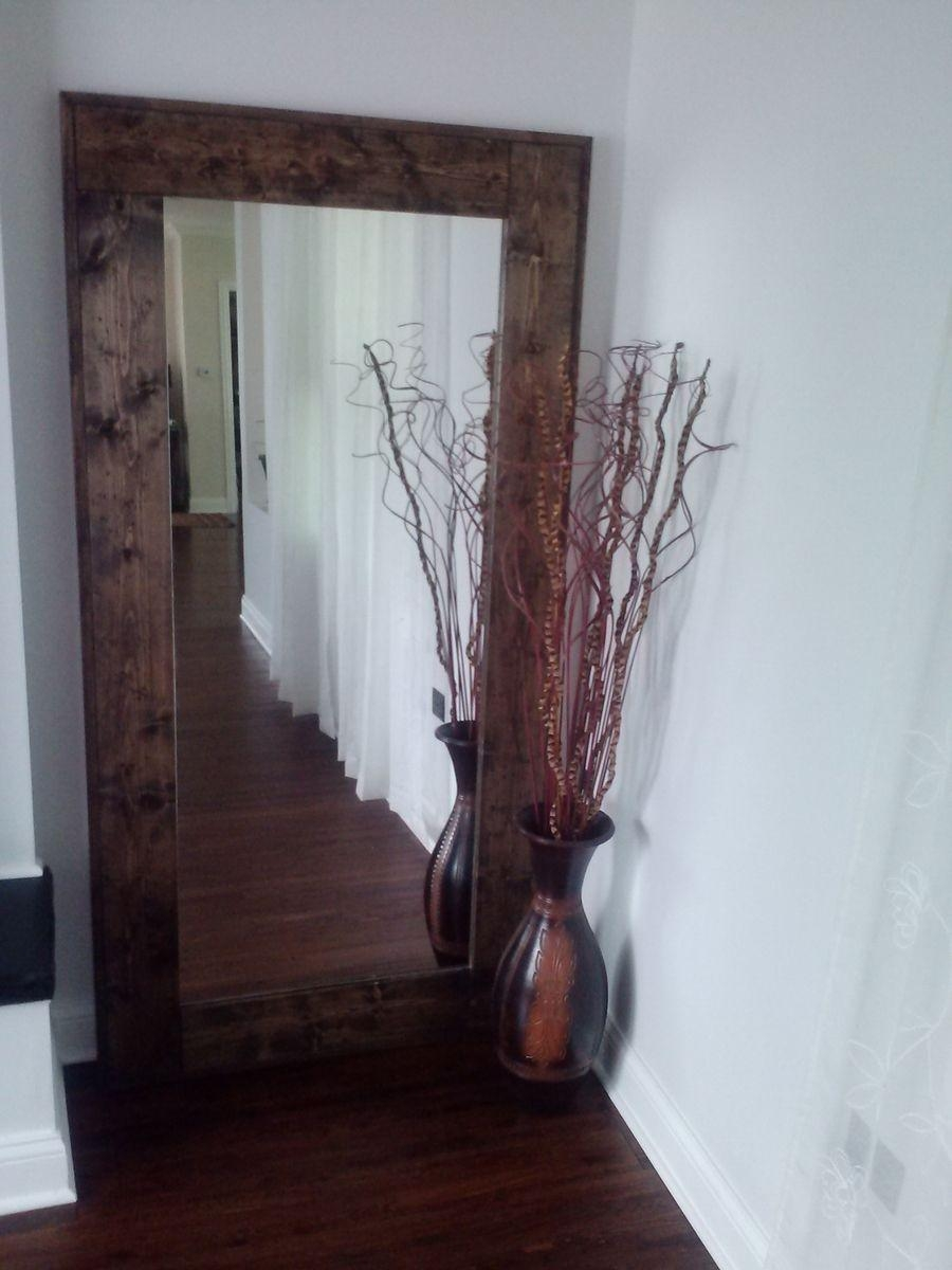 Hand Crafted Large Floor Mirror, Reclaimed Wood Mirror, Standing With Large Floor Mirrors (Image 11 of 20)