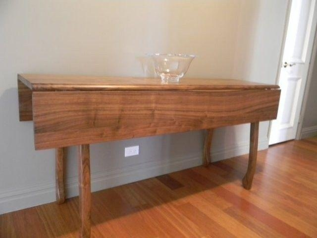 Hand Crafted Walnut Drop Leaf Dining Tabledrew Lambert Designs Intended For Cheap Drop Leaf Dining Tables (View 5 of 20)