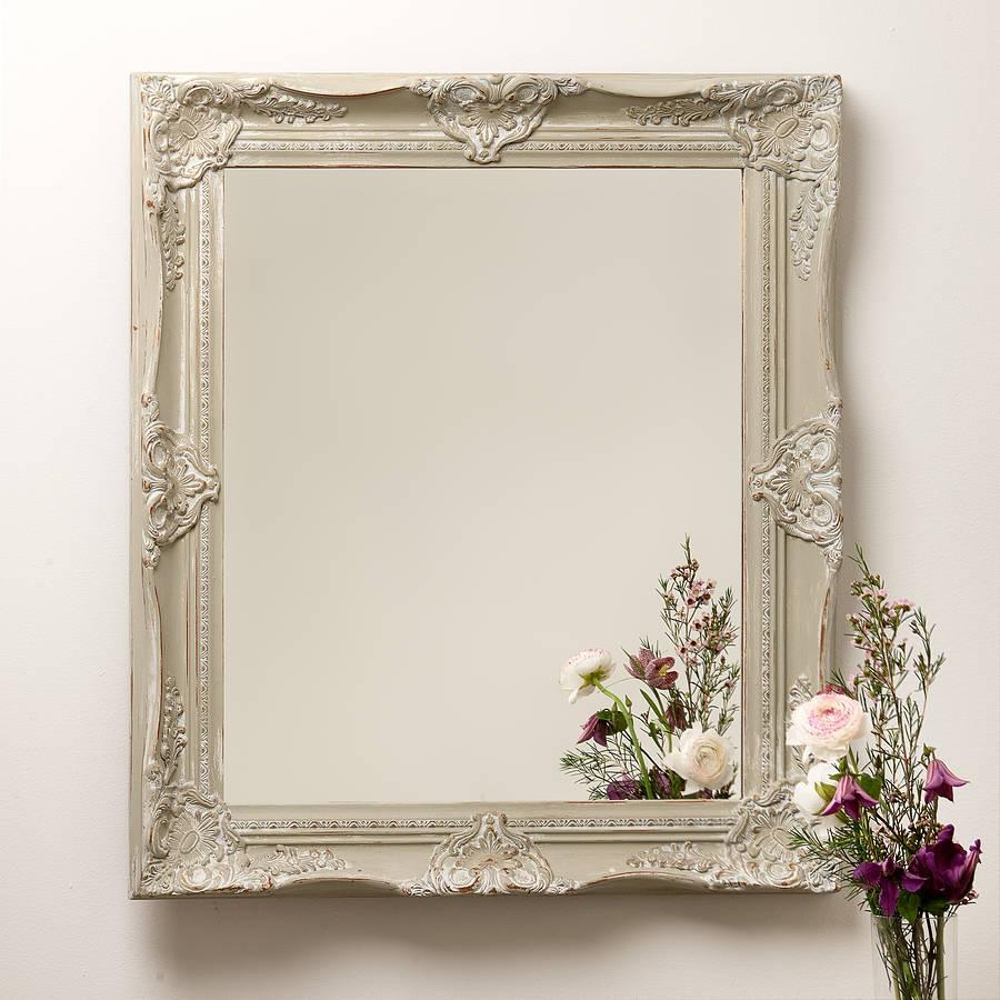 Hand Painted Ornate French Mirrorhand Crafted Mirrors For Ornate French Mirrors (Image 14 of 20)