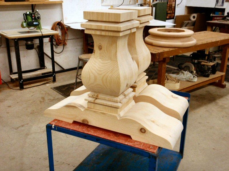 Hanson Woodturning Throughout Dining Tables With Large Legs (Image 14 of 20)