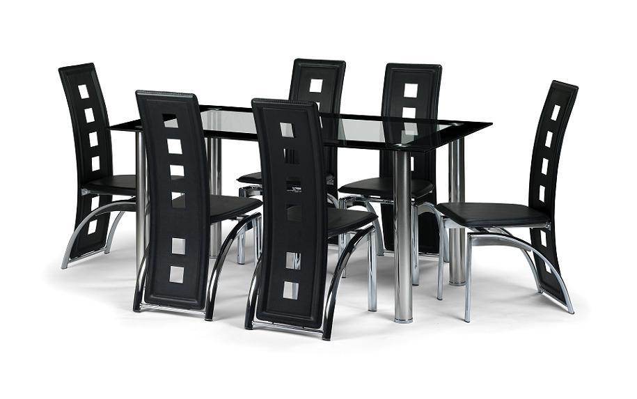 Happy Home Furnishers – Table And Chair Sets For Glass 6 Seater Dining Tables (Image 16 of 20)